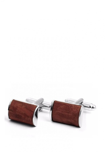 Kings Collection silver Classical Wooden Cufflinks 4DCCFAC1214314GS_1