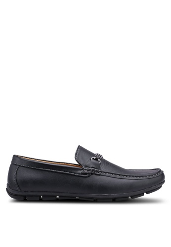 Rocklander black Faux Leather Loafers F211ASH7A24517GS_1