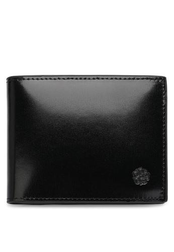 Wild Channel black Faux Leather Short Wallet 189F4AC228A781GS_1