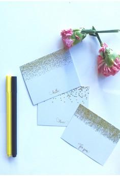 Shimmer Gold Notecards - 12pcs/set
