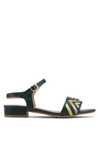 Something Borrowed green Ankle Strap Sandals A388FSH38C7732GS_1