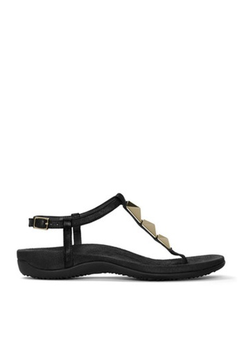 Vionic black Rest Nala Toe Post Sandals VI552SH0IZDRPH_1