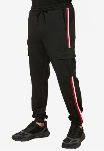 Trendyol black Side Stripe Sweatpants 435C8AAC3E7982GS_1