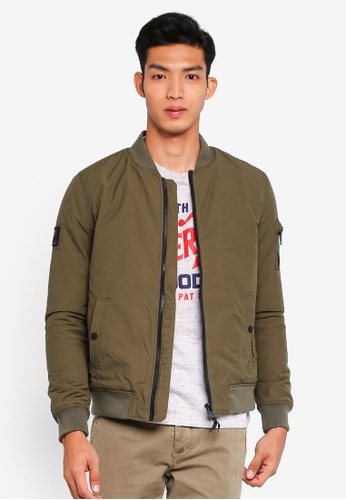 Superdry green Air Corps Bomber Jacket 54B6CAA7A97C1CGS_1