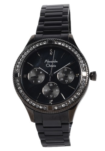 Alexandre Christie black Alexandre Christie - Jam Tangan Wanita - Black - Stainless Steel Bracelet - 2771BFBEPMA F9D7BACB56B3B2GS_1