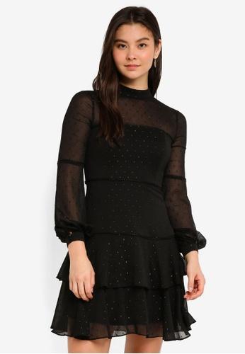 Forever New black Faith Dobby Dress A5CB9AA38796C9GS_1