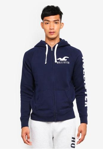 Hollister 海軍藍色 Brand Graphic Zip Hoodie 6A588AAAAE2521GS_1