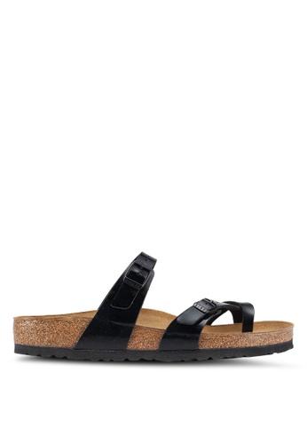 Birkenstock black Mayari Patent Sandals 2DD7FSHF1D2E3EGS_1