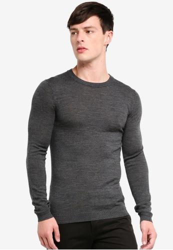 Topman 灰色 修身上衣 E4692AA6303A30GS_1