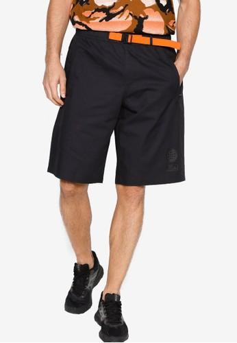 ADIDAS black urban street shorts D584FAAC25AE01GS_1