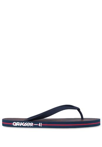 OR-K689 navy Sandal Rubber Wavy - Navy A2E63SHE4CDE41GS_1