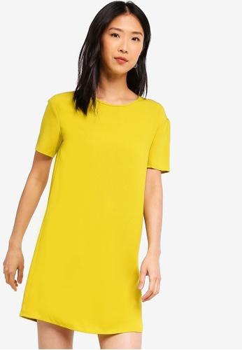 ZALORA BASICS yellow Basic Boxy Dress E0955AA0F04C19GS_1