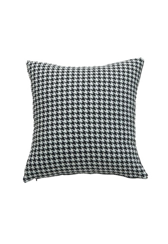 DILAS HOME Monotone Houndstooth Cushion Cover (Square) 6D3F1HLE5726EBGS_1