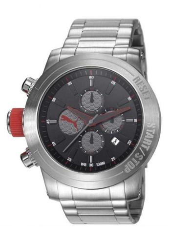 Puma Watches silver PU103791001 Impulse Metal Silver Black Chronograph Men Watch PU549AC0SHU0MY_1
