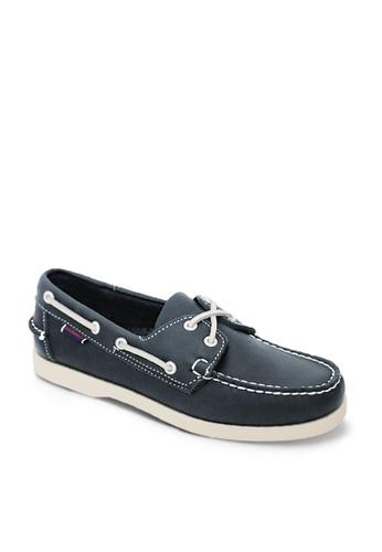 Sebago navy Docksides Men's Loafers 9DE70SHAD2E144GS_1