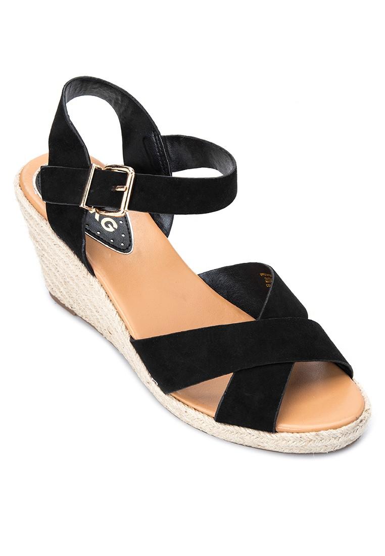 Pineapple Wedge Sandals