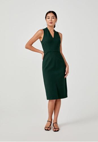 Love, Bonito green Eviette Bodycon Midi Dress 27617AA068D60CGS_1