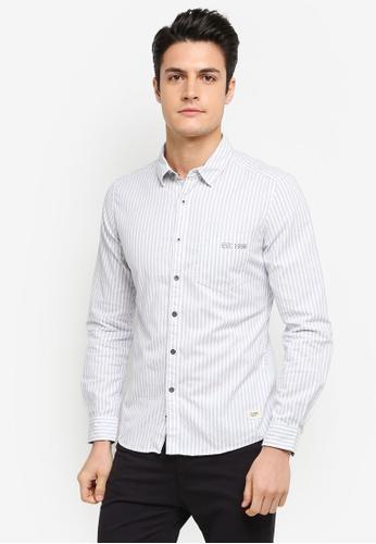 ESPRIT white Woven Long Sleeve Shirt ES374AA0T186MY_1