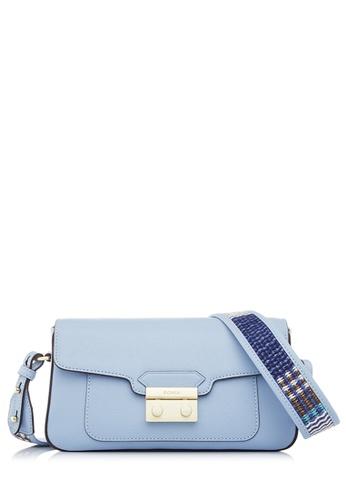 BONIA blue Light Blue Raffia Twist Crossbody Bag 2FC15AC2FF065AGS_1