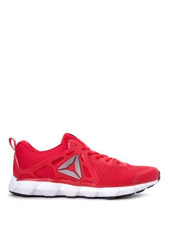 Reebok black and white and red Hexaffect Run 5.0 MTM Running Shoes RE600SH60AZRPH_1