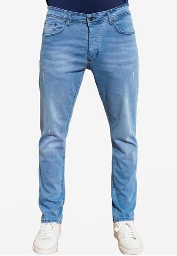 Trendyol blue Slim Fit Distressed Jeans 93721AA91BF7F0GS_1