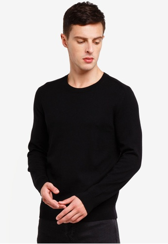 Banana Republic 黑色 Merino Crew Neck Sweater 0B18EAAC23F95CGS_1