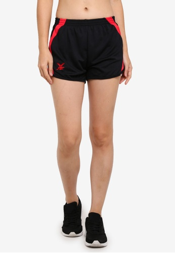 FBT black and red Running Shorts 9F835AA3D16A41GS_1