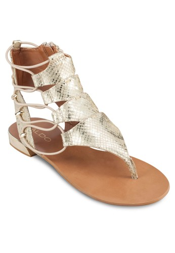 Athenaaldo 評價 鏤空側繫帶涼鞋, 女鞋, 鞋