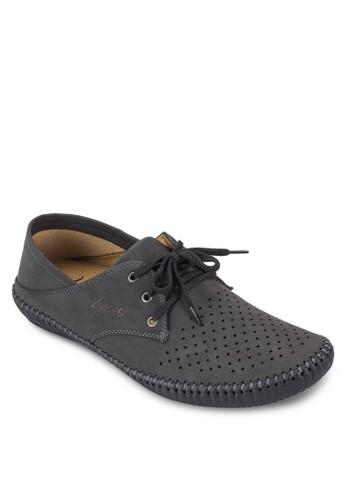 zalora時尚購物網評價三眼繫帶沖孔正式感休閒鞋, 鞋, 鞋