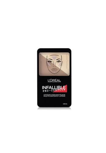 L'Oréal Paris beige L'Oreal Paris Infallible Pro Contour Palette 813 Light Clair B6A65BE6752159GS_1