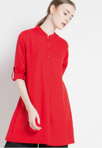 Brilliant Girl red Blouse BR343AA04XOHID_1