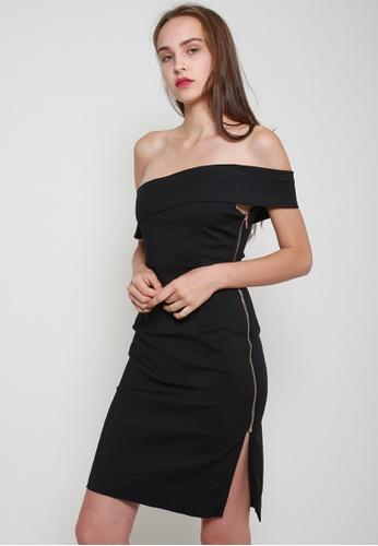 Leline Style black Faye OffShoulder Dress 52D0FAAE4A900EGS_1
