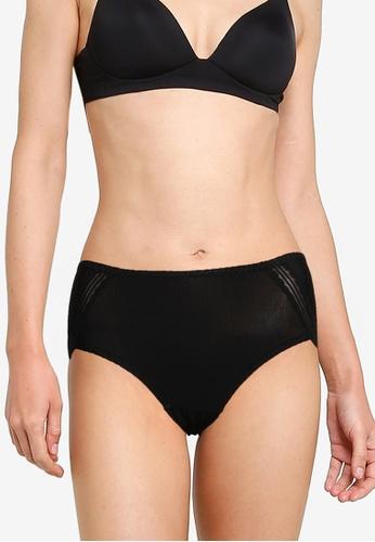 Impression black Rib Panties 0155CUS99C5B61GS_1