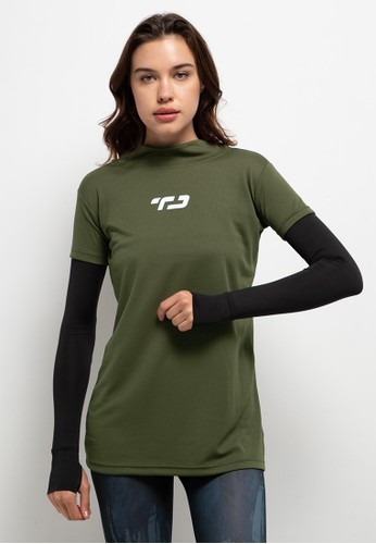 TD Active green Baju senam manset inner 2-in-1 dual layer AF025AA8187A7DGS_1
