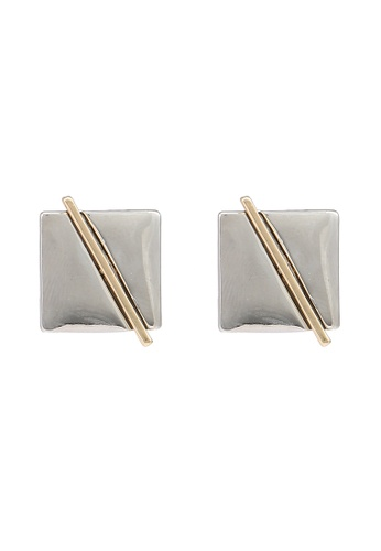 niko and ... grey Square Earrings 7508FAC174DDC3GS_1