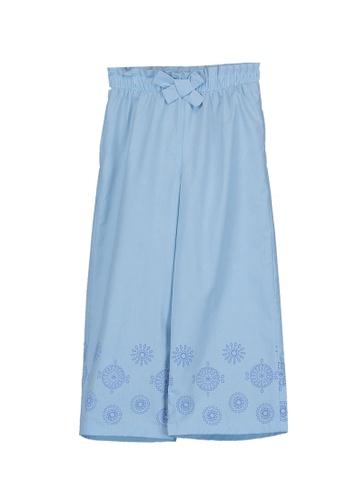 LC Waikiki blue Paperbag Waist Bow Trousers BF3B6KAB207D63GS_1