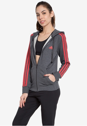 Adidas grey adidas performance ess 3s fzh sl AD678AA0KSUXPH_1