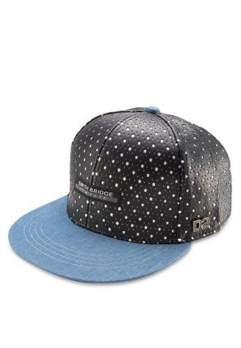 PU 印花丹寧鴨舌帽, esprit地址飾品配件, 鴨舌帽