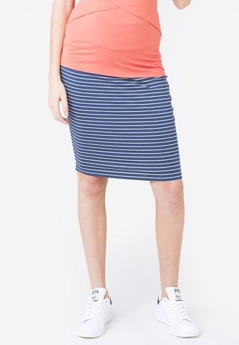 Ripe Maternity multi Maternity Mia Stripe Skirt DB3E3AA87CFAE5GS_1