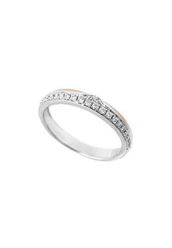 GOLDHEART gold GOLDHEART Evermore Ring, White Gold & Rose Gold 750 (EBE-R4855) 1A1FAACA9E0FA1GS_1