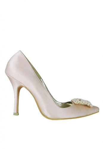 Jacque pink Silky Blush Pink Heels with Perl Bead Buckle JA262SH90RVDMY_1