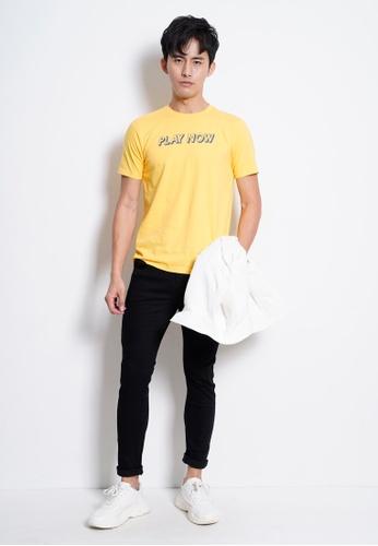 Hi Style yellow Graphic Short Sleeve T-Shirt B2C7BAA7488A0AGS_1