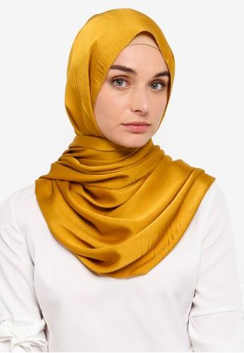 VERCATO yellow Premium Luxe Satin Shawl D3D6DAA4F0FEDFGS_1