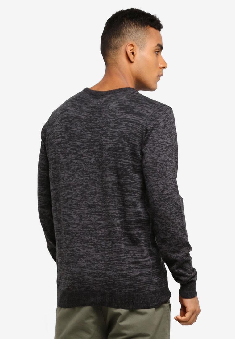 Indicode Sweater Knitted Black Melange Jeans Arjun EFxYd1tqwF