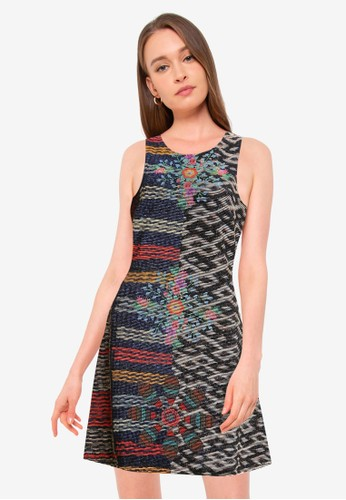 Desigual black Slim Mandalas Dress 6159AAAC68040EGS_1