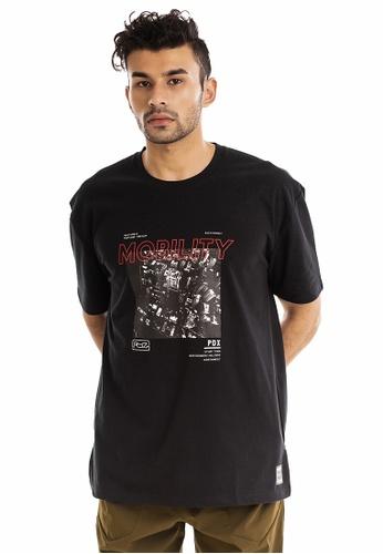 RYZ black RYZ Cityscape Graphic Black Short Sleeve T-Shirt. 82714AA1D4D9E6GS_1