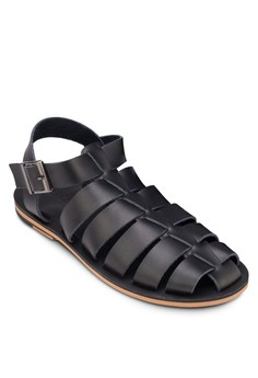 Leather Multi Straps Sandals