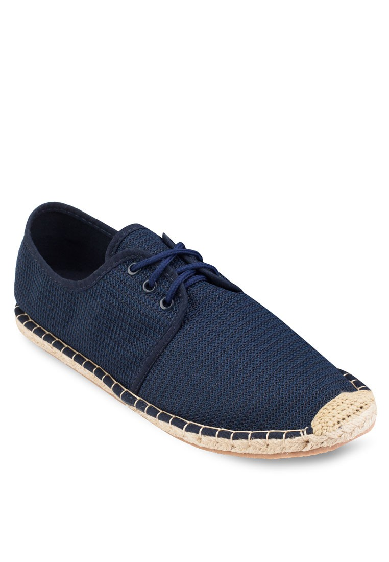 Mesh Espadrilles Lace Up Sneakers