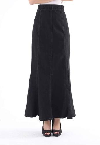 Ladies Jeans black Ladies Jeans Denim Skirt EB398AAE65414FGS_1
