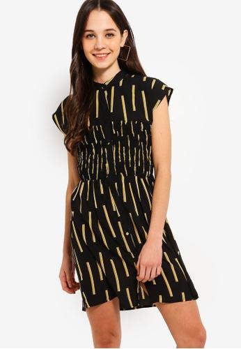 029f6552ed9f Buy Something Borrowed Smocked Panel Button Down Dress Online on ZALORA  Singapore